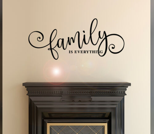 Wall Decal Family Is Everything Home Living Room Vinyl Decor Black 22.5x10 gz494