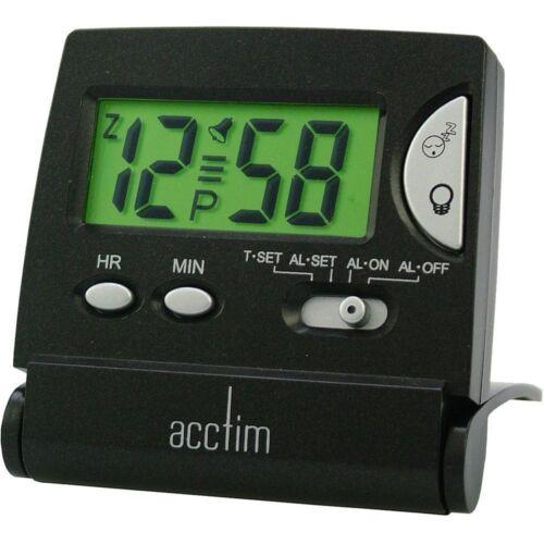 PM indicateur 62x62x60mm Acctim voyage mini lcd flip crescendo réveil AM