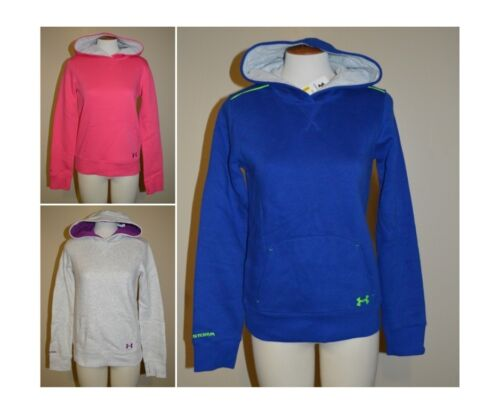 Youth Girls Under Armour CC Storm ColdGear Logo Hoodie~Pink//Blue//Gray~Many Sizes