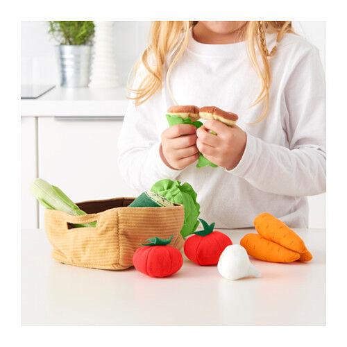 Set Set Set Vegetables 14 Pcs Fruits 9 Pcs Ikea Duktig Food Kitchen Kids Pretend Play 1934c5