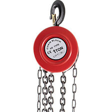 Vevor 1 Ton Chain Puller Block Fall Chain Lift Hoist Hand Tools Chain With Hook