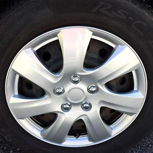 US New 15/'/' Silver Car Wheel Hubcaps Rim Skin Cover Hub Caps Replacement 4pc Set