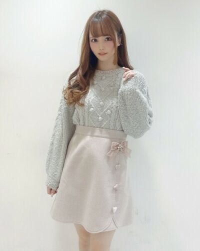 japan fashion kawaii lolita LIZ LISA Ribbon Trapezoid Skirt