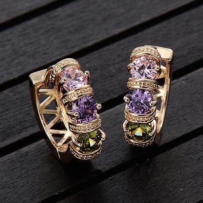 1 Pair Women Lady New Fashion Rhinestone Crystal Earrings Ear Hook Stud Jewelry
