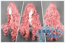 90cm VOCALOID Megurine Luka Ruka PINK Anime Cosplay Wig + Ponytail +Track