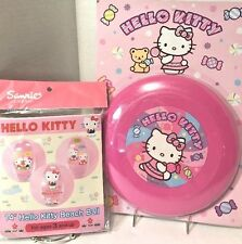 Sanrio Hello Kitty Summer Fun Pink Flying Disc 2007 & Beach Ball w Mimi 2009 NOS