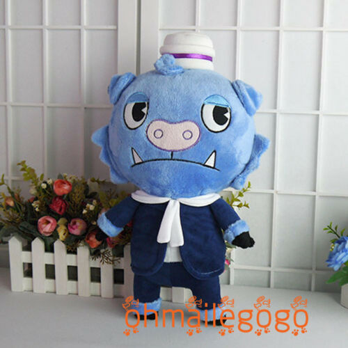 "Happy Tree Friends HTF Truffles Stuffed Doll Anime Plush Toy 40cm//15.7/"" Blue Pig"