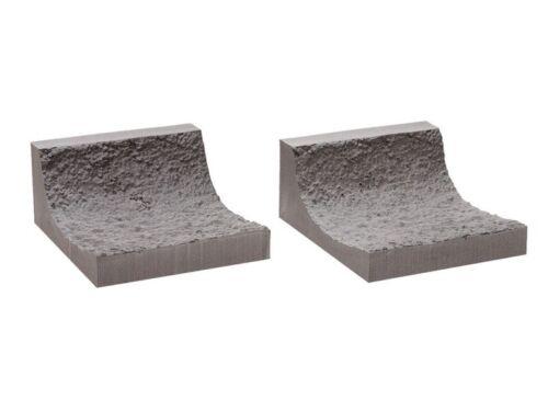 per 9,5 cm di lunghezza h0 Ancora 58033 gallerie-Roccia-muro interno piegate 2 pezzi