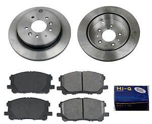Rear Ceramic Brake Pad Set /& Rotor Kit for 2007-2011 Mazda CX-7