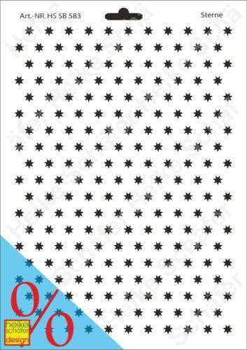 Galería de símbolos-stencil a4 103-0583 estrellas-nuevo-heike Schäfer Design