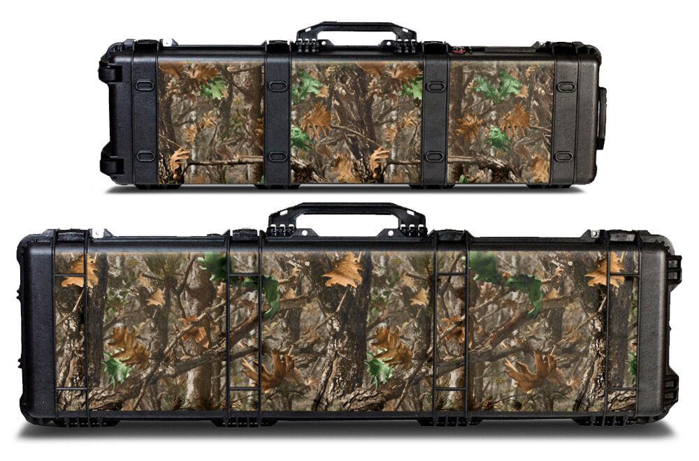 USATuff Custom Decal Wrap fits Pelican Gun Case 1750 - Woodland Tree Camo