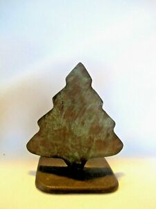 Lost-wax-cast-Bronze-Holiday-Christmas-Tree-3-1-2-034-Pine-Decorative-Sculpture