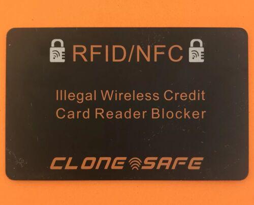 3 x CLONE Safe ® RFID et NFC sans fil carte de crédit illégales Reader Shield-Blocker