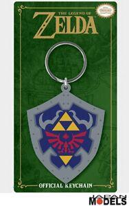 Portachiavi-Keychain-The-Legend-of-Zelda-LINK-HYLIAN-SHIELD-Scudo-Rubber-Gomma
