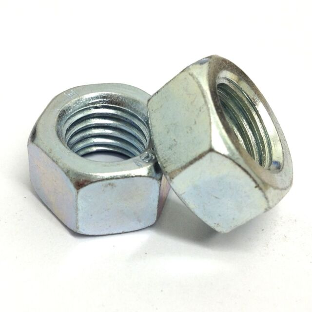 M16 x 1.5mm Fine Pitch Full Nuts - 1x - 16mm - BZP