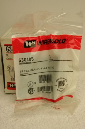 Wiremold G3010B Blank End Fitting Gray NEW Box of 5