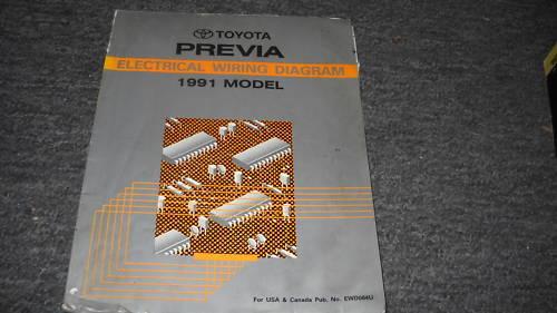 1991 Toyota Previa Van Electrical Wiring Diagram Service