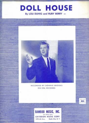 Donnie Brooks 1960 Sheet Music Doll House MINT CONDITION ORIGINAL 60/'s POP VOCAL