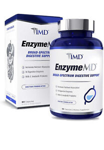 1MD EnzymeMD Digestive Enzymes Supplement With18 Plant-Based Enzymes 60 Capsules