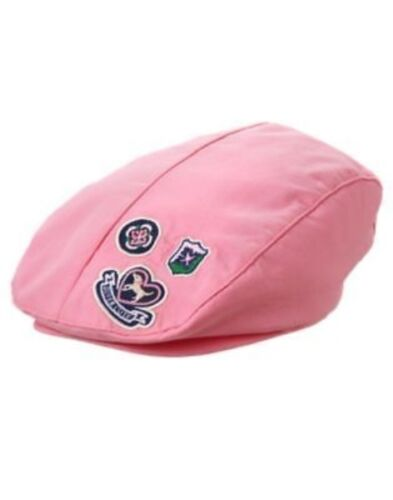 GYMBOREE SMART GIRLS RULE PINK PATCH BERET HAT CAP 3 4 5 7 8 10 NWT