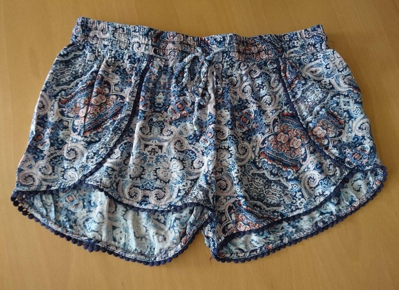 Amisu:Damen Shorts, Gr. 40, hell gemustert