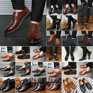 Men/'s Business Oxfords Brogues Smart Dress Wedding Office Work Casual Shoes Size