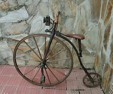 Early 1880's Penny Farthing with Wagon Style Wooden Wheels (pre-Dunlop 1883)