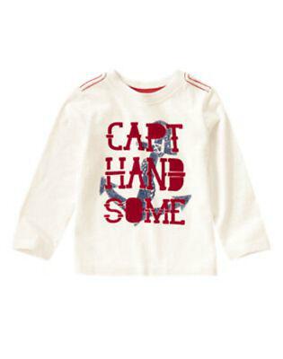 NWT CRAZY 8 Spring Trans NAUTICAL SAILOR 16 Captain Handsome L//S Shirt Top