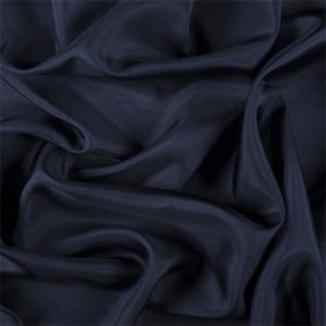 Fabric By The Yard Navy Blue Silk Habotai