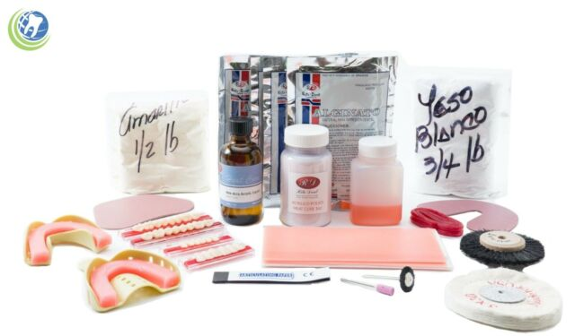 COMPLETE DENTURE REPAIR KIT WITH 28 TEETH LONG LASTING - NO INSTRUCTIONS