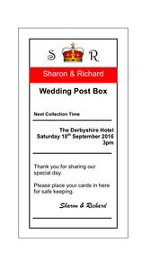 Personalised Royal Mail Wedding Card Box Sign Pdf Ebay