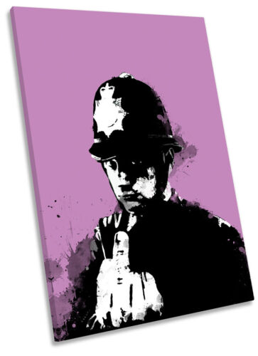 Banksy Rude Copper Framed CANVAS WALL ART Picture Print