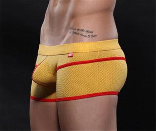 Summer Men Boxer Trunks Ice Silk Mesh Breathable Underpants Underwear Seamless