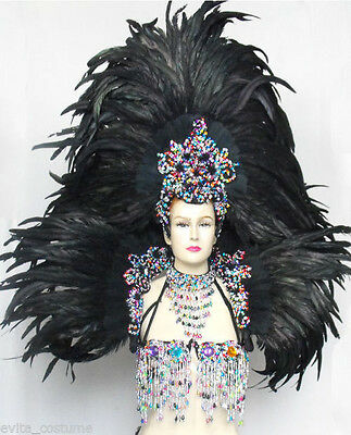 Da NeeNa FUC Feather Samba Vegas Showgirl Drag Headdress