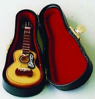 Dolls House Miniature Acoustic Guitar Musical Instrument Accessory 1:12 Sale
