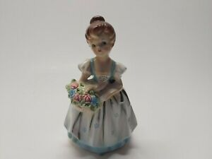 Vintage-Lefton-Hand-Painted-Victorian-Girl-PLANTER-ESD-Japan-23645