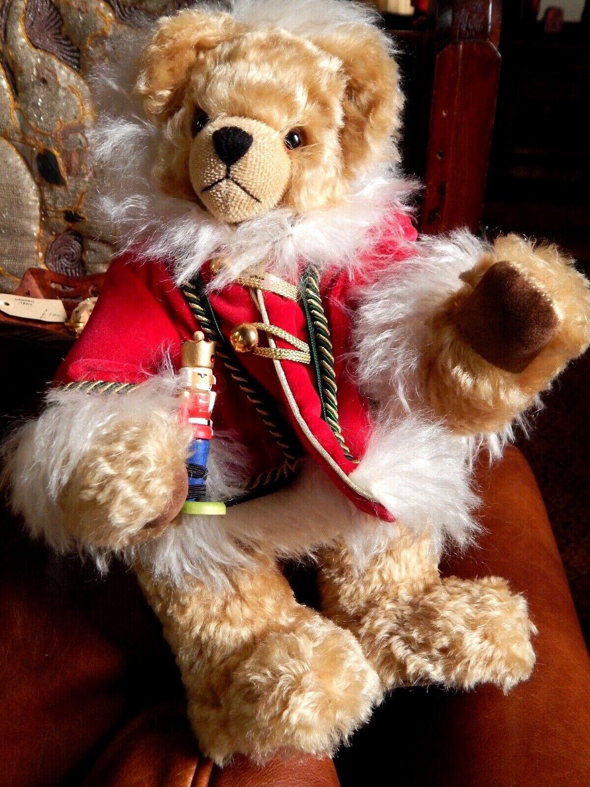 Vintage Teddy Bear German Mohair Christmas Bear Hermann Ltd Ed 14  36cm