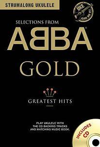ABBA GOLD GREATEST HITS FOR UKULELE UKE PLAY ALONG SHEET MUSIC SONG BOOK W/CD
