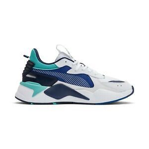 Details about New Puma RS-X Hard Drive White/Galaxy Blue Sneakers Running  Shoes 369818 02