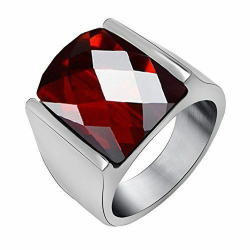 FANSING Jewelry Imitation Agate Stainless Steel Ring NEW