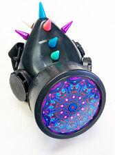 Cyber Punk Industrial Goth Rave Gas Mask Respirator Spikes Mandala Single #32984