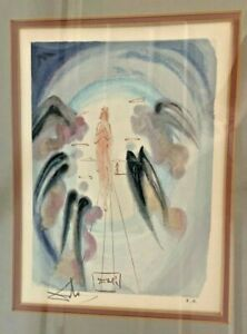SALVADOR-DALI-Woodcut-Divine-Comedy-034-Paradise-24-034-HAND-SIGNED-with-COA