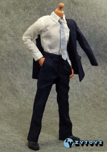 """1//6 Bleu Foncé Couleur Costume Set pour Hot Toys 12/"""" figure masculine navire de USA"""