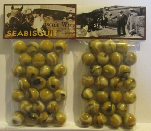 2 Bags Of Seabiscuit Champion Thoroughbred Race Horse Promo Marbles
