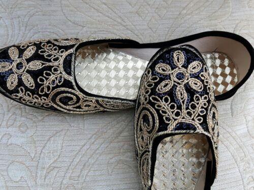 Party Velvet Black 3 Shoe Wedding Ladies Indian Size Khussa qPqrUOwI