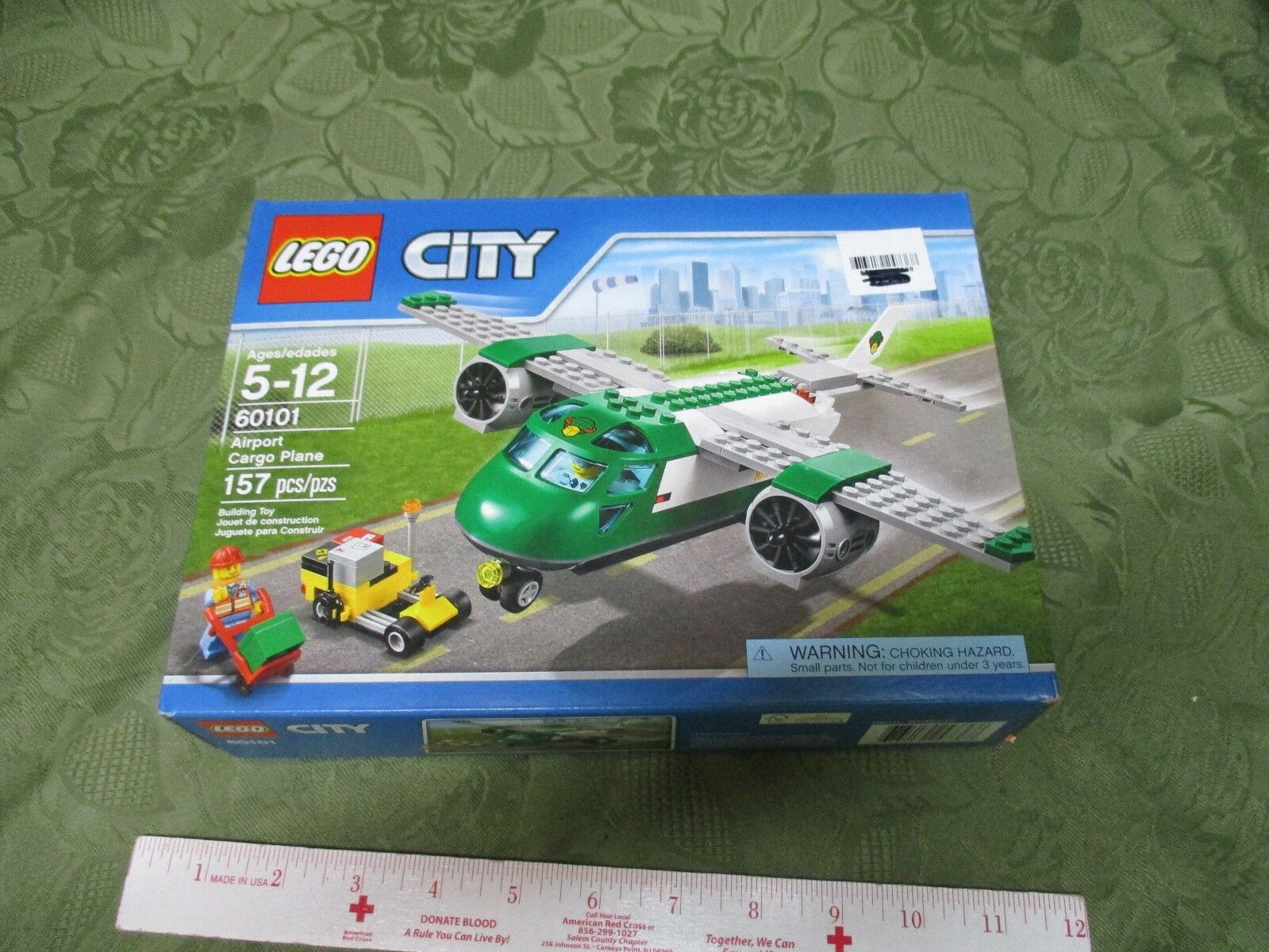 LEGO City Airport Cargo Plane Building toy set 157 Pieces Nuovo Box Worker minifig