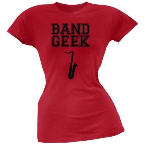 Band Geek Sax Red Soft Juniors T-Shirt