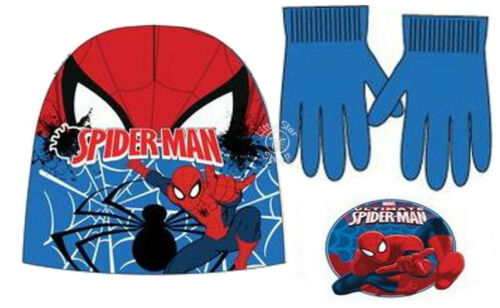 Gloves 3-8 years CARS SPIDER-MAN STAR WARS Boys SET Knitted Beanie Winter Hats