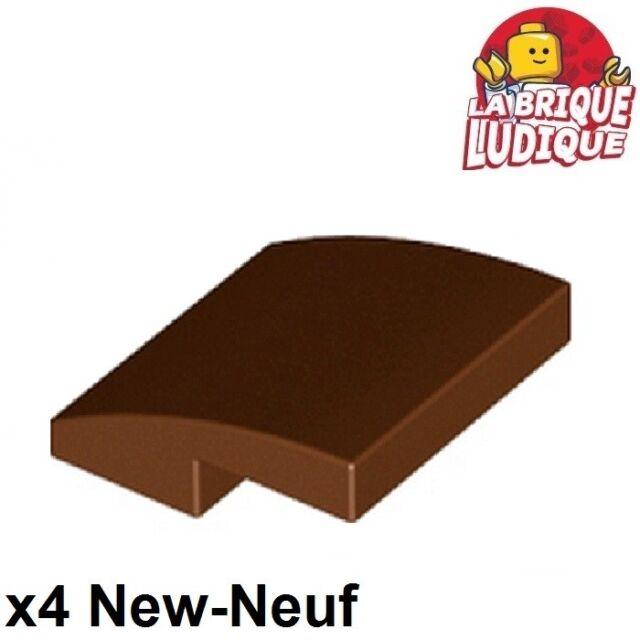 LEGO NEW 2x2x0.66 Reddish Brown Slope Curved 6146858 Brick 15068 10x