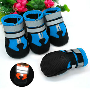 Anti-slip-Reflective-Dog-Shoes-Protective-Rain-Boots-Booties-Waterproof-Shoes